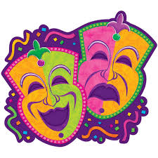 mardi gras paper amscan 15 in mardi gras paper comedy and tragedy masks cutouts 9
