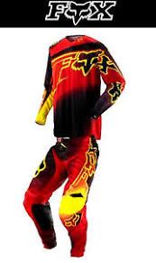 motocross pants and jersey combo fox 360 combo motocross pants jersey new 34 m red yellow dirt
