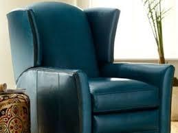 56 blue leather recliner chairs jensen beach blue power recliner