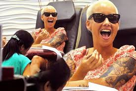 amber rose laughs her head off while getting pampered despite