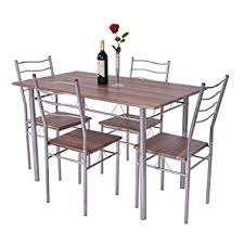 amazon com giantex modern 5 piece dining table set for 4 chairs