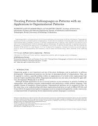 pattern language digital treating pattern sublanguages as patterns with an application to