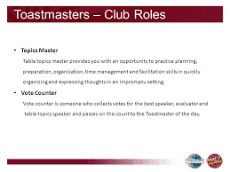 Table Topics Toastmasters Toastmasters New Members Orientation Ppt Download