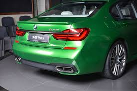 green bmw bmw m760li stands out in rallye green