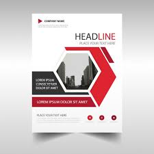 corporate brochure with hexagonal shapes free vector leaflet