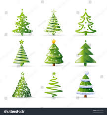 tree set stock vector 64714978