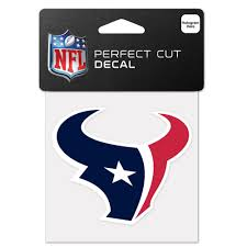Houston Texans Flags Houston Texans Official Nfl 4 Inch X 4 Inch Die Cut Car Decal By