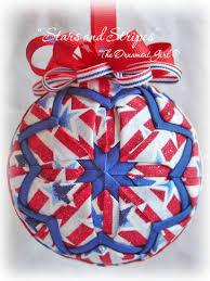 handmade stars and stripes patriotic christmas ornament