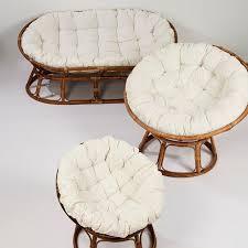 casa canapé mamasan lounge canapé naturel blanc cassé h 170 x larg 110 x