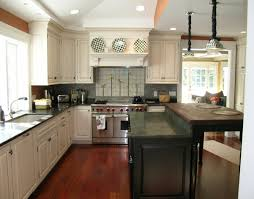 kitchen decorations black granite countertop and beige tile
