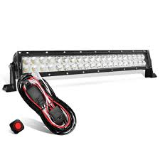 nilight led light bar review nilight 22 inch 120w combo led light bar wiring harness kit 2
