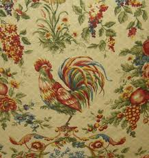 french chicken fabrics fabric with a rooster medallion in