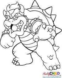 super mario bowser super mario coloring pages