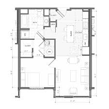1 bedroom floor plan floor plans the merc at moody