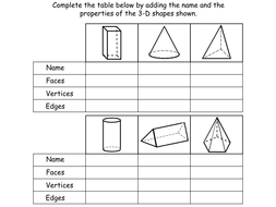 3 d shapes year 3 interactive powerpoint and worksheets by