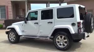 used jeep rubicon hd video 2013 jeep wrangler unlimited sahara 4x4 used white nav