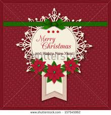 merry christmas greeting card holiday background stock vector