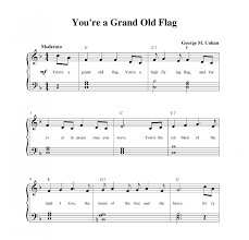 Youre A Grand Old Flag Lyrics Download Youre A Grand Old Flag Sheet Music Practiceburned Ml
