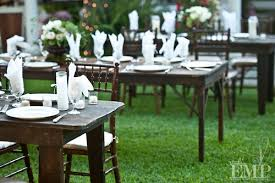 Vintage Backyard Wedding Ideas by Vintage Tables And Chairs Are Perfect For A Backyard Vow Renewal