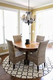 Round Kitchen Table by Dining Room Round Dining Table With Parson Dining Chairs On Sisal