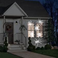 Halloween Spider Lights lightshow projection whirl a motion spiders white by gemmy