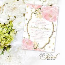 Holy Communion Invitation Cards Floral Holy Communion Invitation Personalized Custom Peony