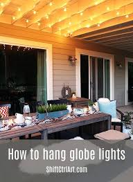 Patio Hanging Lights Ideas Patio Hanging Lights Or Globe Lights Hanging Them Up