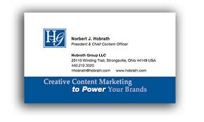 Sales Business Card Content Marketing Is The Future Of Promotion
