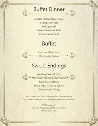 Buffet Menu For Wedding by Wedding Il Palazzo Catering