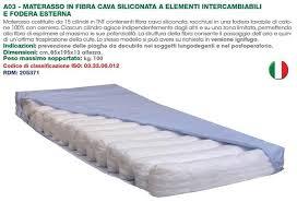 materasso antidecupito materasso antidecubito in fibra cava siliconata ad elementi