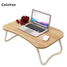 Small Laptop Desk Multi Purpose Small Laptop Table With Slot Simple Dormitory Lazy