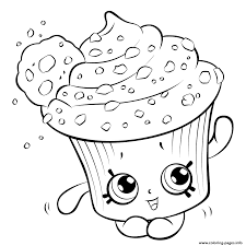 amazing cupcake for kids shopkins season 5 coloring pages printable