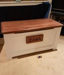 Solid Pine Ottoman Handmade Wooden Box Solid Pine Ottoman Painted Stained And