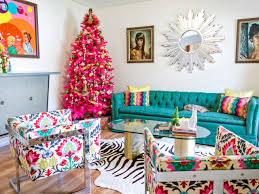 Teal And Red Living Room by Non Traditional Holiday Color Palettes Hgtv U0027s Decorating