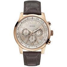 montre guess bracelet cuir images Montre guess dor rose homme 40 et livraison gratuite w0380g4 jpg