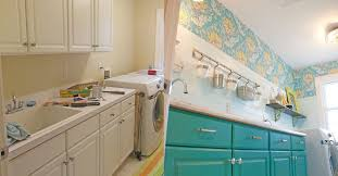 removable wallpaper for kitchen cabinets fabulous colorful laundry room makeover hometalk
