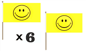 Flag Emoticons Smiley Face Hand Waving Flags Pack Of 6 Flagman
