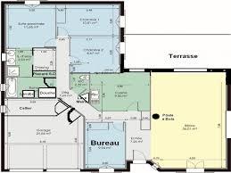plan maison en l 4 chambres chambre plan maison 4 chambres élégant plan maison en l de plain