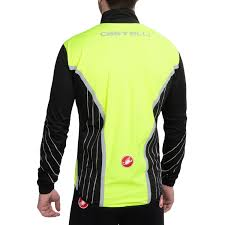 yellow waterproof cycling jacket castelli misto rain jacket cycle closet