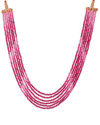 pink beads necklace images Buy designer necklaces chunky pink beads necklace online voylla jpg