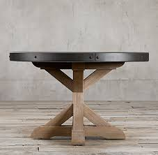 table base for round table salvaged wood concrete x base collection rh