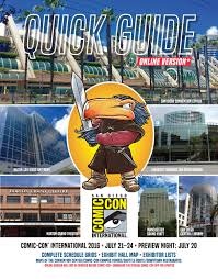 Ud Campus Map Comic Con 2016 Quick Guide Online By Comic Con International Issuu