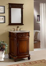 Bathroom Vanity 24 Inch by Inch Bathroom Vanity Traditional Classic Style Medium Brown Color