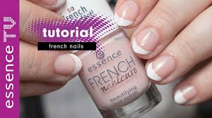 french nails tutorial deutsch für anfänger french manicure kurze
