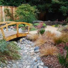 river rock garden design decoration
