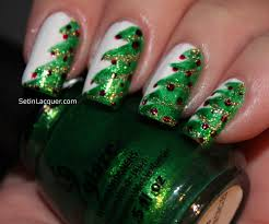 christmas nail art christmas tree ornament animal print nails