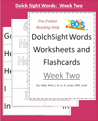 Sight Words Worksheets Printable Dolch Sight Words Worksheets Week Two 3 Boys And A