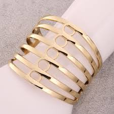 metal bracelet women images Women trendy geometry gold plated platinum plated metal jpeg
