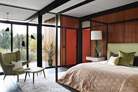 mid century modern master bedroom gallery with my home as art