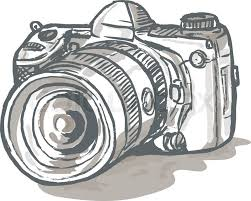 illustration of a cameraman movie director with vintage movie film